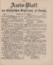 Amts-Blatt der Königlichen Regierung zu Danzig, 24. Dezember 1887, Nr. 51