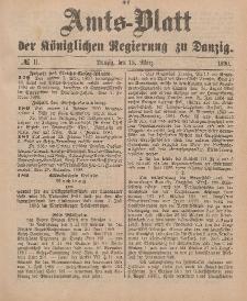 Amts-Blatt der Königlichen Regierung zu Danzig, 15. März 1890, Nr. 11
