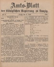 Amts-Blatt der Königlichen Regierung zu Danzig, 19. April 1890, Nr. 16