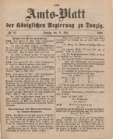 Amts-Blatt der Königlichen Regierung zu Danzig, 31. Mai 1890, Nr. 22