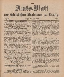 Amts-Blatt der Königlichen Regierung zu Danzig, 28. Juni 1890, Nr. 26