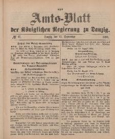 Amts-Blatt der Königlichen Regierung zu Danzig, 13. September 1890, Nr. 37