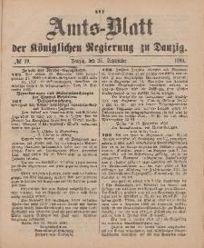 Amts-Blatt der Königlichen Regierung zu Danzig, 20. September 1890, Nr. 38