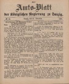 Amts-Blatt der Königlichen Regierung zu Danzig, 15. November 1890, Nr. 46