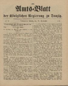 Amts-Blatt der Königlichen Regierung zu Danzig, 14. September 1895, Nr. 37