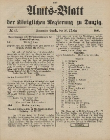Amts-Blatt der Königlichen Regierung zu Danzig, 26. Oktober 1895, Nr. 43