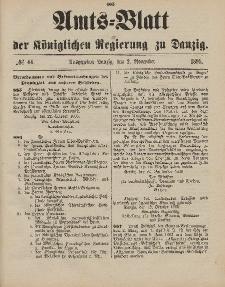 Amts-Blatt der Königlichen Regierung zu Danzig, 2. November 1895, Nr. 44