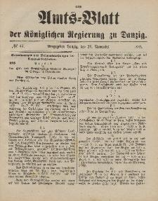 Amts-Blatt der Königlichen Regierung zu Danzig, 23. November 1895, Nr. 47