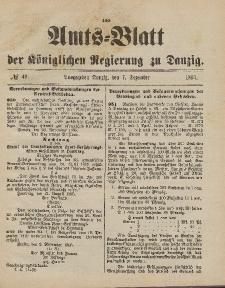 Amts-Blatt der Königlichen Regierung zu Danzig, 7. Dezember 1895, Nr. 49