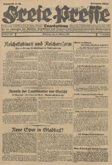 Freie Presse, Nr. 250 Mittwoch 24. Oktober 1928 4. Jahrgang