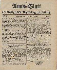 Amts-Blatt der Königlichen Regierung zu Danzig, 28. Dezember 1895, Nr. 52