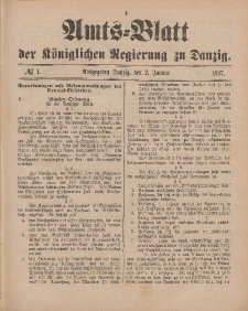 Amts-Blatt der Königlichen Regierung zu Danzig, 2. Januar 1897, Nr. 1