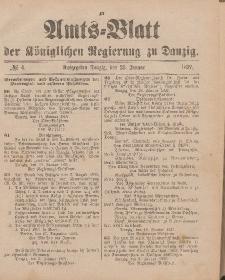 Amts-Blatt der Königlichen Regierung zu Danzig, 23. Januar 1897, Nr. 4