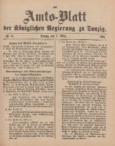 Amts-Blatt der Königlichen Regierung zu Danzig, 7. März 1891, Nr. 10