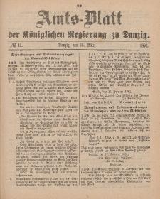 Amts-Blatt der Königlichen Regierung zu Danzig, 14. März 1891, Nr. 11