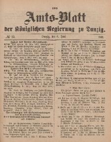 Amts-Blatt der Königlichen Regierung zu Danzig, 6. Juni 1891, Nr. 23