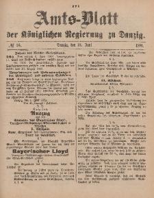 Amts-Blatt der Königlichen Regierung zu Danzig, 13. Juni 1891, Nr. 24