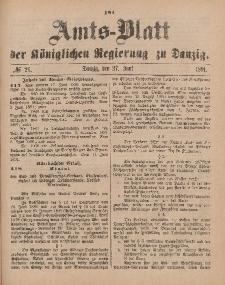 Amts-Blatt der Königlichen Regierung zu Danzig, 27. Juni 1891, Nr. 26