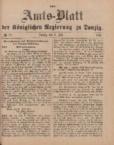 Amts-Blatt der Königlichen Regierung zu Danzig, 4. Juli 1891, Nr. 27