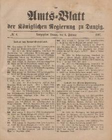 Amts-Blatt der Königlichen Regierung zu Danzig, 06. Februar 1897, Nr. 6