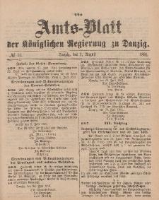 Amts-Blatt der Königlichen Regierung zu Danzig, 1. August 1891, Nr. 31