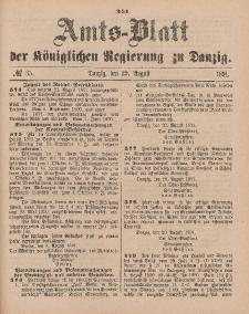 Amts-Blatt der Königlichen Regierung zu Danzig, 29. August 1891, Nr. 35