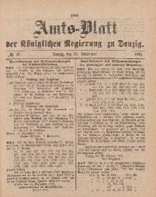 Amts-Blatt der Königlichen Regierung zu Danzig, 26. September 1891, Nr. 39
