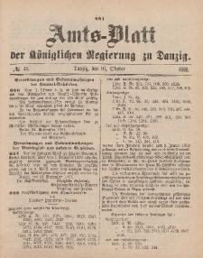 Amts-Blatt der Königlichen Regierung zu Danzig, 10. Oktober 1891, Nr. 41