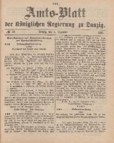 Amts-Blatt der Königlichen Regierung zu Danzig, 5. Dezember 1891, Nr. 49