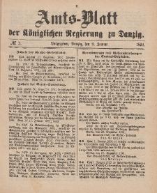 Amts-Blatt der Königlichen Regierung zu Danzig, 9. Januar 1892, Nr. 2