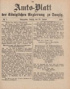 Amts-Blatt der Königlichen Regierung zu Danzig, 30. Januar 1892, Nr. 5
