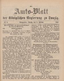 Amts-Blatt der Königlichen Regierung zu Danzig, 6. Februar 1892, Nr. 6