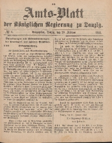 Amts-Blatt der Königlichen Regierung zu Danzig, 20. Februar 1892, Nr. 8