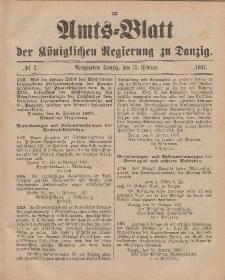 Amts-Blatt der Königlichen Regierung zu Danzig, 13. Februar 1897, Nr. 7