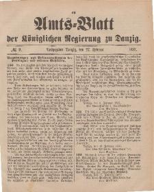 Amts-Blatt der Königlichen Regierung zu Danzig, 27. Februar 1897, Nr. 9