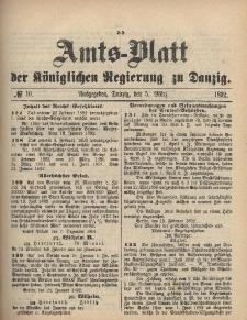 Amts-Blatt der Königlichen Regierung zu Danzig, 5. März 1892, Nr. 10