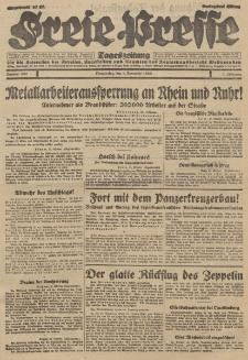 Freie Presse, Nr. 257 Donnerstag 1. November 1928 4. Jahrgang