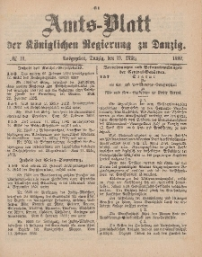 Amts-Blatt der Königlichen Regierung zu Danzig, 19. März 1892, Nr. 12