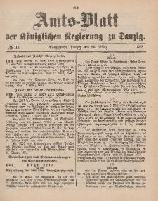 Amts-Blatt der Königlichen Regierung zu Danzig, 26. März 1892, Nr. 13