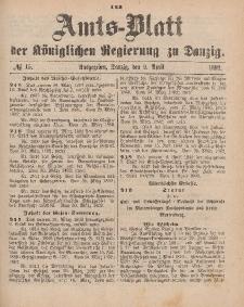 Amts-Blatt der Königlichen Regierung zu Danzig, 9. April 1892, Nr. 15