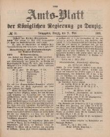 Amts-Blatt der Königlichen Regierung zu Danzig, 21. Mai 1892, Nr. 21