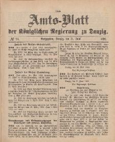 Amts-Blatt der Königlichen Regierung zu Danzig, 11. Juni 1892, Nr. 24