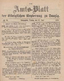 Amts-Blatt der Königlichen Regierung zu Danzig, 18. Juni 1892, Nr. 25