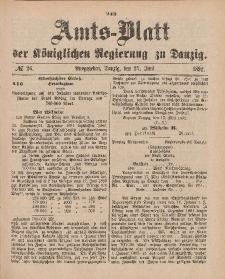 Amts-Blatt der Königlichen Regierung zu Danzig, 25. Juni 1892, Nr. 26