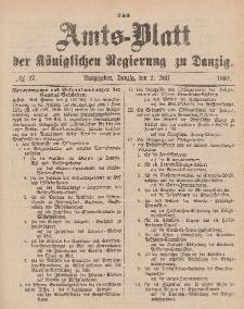 Amts-Blatt der Königlichen Regierung zu Danzig, 2. Juli 1892, Nr. 27