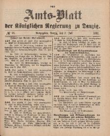 Amts-Blatt der Königlichen Regierung zu Danzig, 9. Juli 1892, Nr. 28