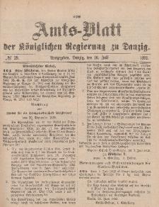 Amts-Blatt der Königlichen Regierung zu Danzig, 16. Juli 1892, Nr. 29