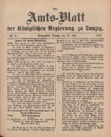 Amts-Blatt der Königlichen Regierung zu Danzig, 30. Juli 1892, Nr. 31