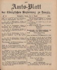 Amts-Blatt der Königlichen Regierung zu Danzig, 6. August 1892, Nr. 32