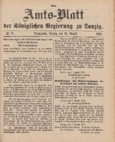 Amts-Blatt der Königlichen Regierung zu Danzig, 20. August 1892, Nr. 34